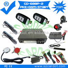 The Hot Selling GSM car alarm with PKE function,moble start,remote start,push button start modes,programmable key
