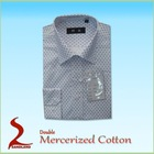 100%Mercerized Cotton woven Mens Shirts business shirts