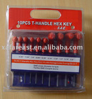 10pcs T-Handle hex key wrench