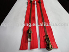 Antique brass double side zipper for bag and fashion