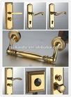 Brass Door Handle On Plate/Entrance door handle/USA gate handle with lock