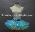 Newest style CS-025 zhenzhen three layers tutu pettiskirt