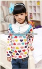 2012 instock items Fashion kids winter princess shirt wholesale China supplier