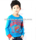 2012 Trendy Korean design children autumn clothes boys fresh long sleeve t-shirt wholesale/OEM/Retail