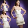 SD3661 Unique Design Ivory Sweetheart Sheath Mini Many Small Bowknots Decoration Eye-Catching Cocktail Dress