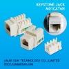 90 degree RJ45 UTP Keystone Jack
