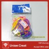 letter style colorful rubber bands