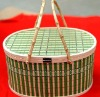 fashionable bamboo basket for storage for home decoration