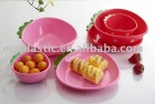 cartoon lovely plasic Strawberry fruit bowl/ plate