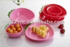 cartoon lovely plasic Strawberry fruit bowl/ plate