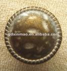 17mm Bronze Tin Metal Jeans Button