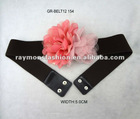 stylish ladies flower elastic belt