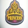 Crown shape multicolor pvc label