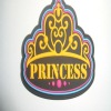Crown shape multicolor pvc label