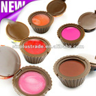 5 Colors Lovely and Sweet Mini Cup Cake Moisten Lip Gloss tube container