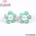 Bubble pearl drop earrings-PYEA900468