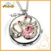 fashion Swan watch key ring with pocket watch necklace pendant(T00046)
