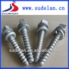 20*145/22*150 Square head screw spike of railway track fittings