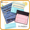 Stylish colorful leather jewelry roll