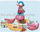 merry-go-round revolving rider