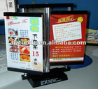 Rotational acrylic resturant Menu Holder