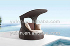 SGS-TESTED rattan aluminum sofa bed