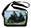 Black laptop bag of heat transfer and sublimation