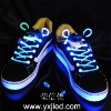 led shoelace with coin battery