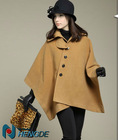 korean women winter coat fashion winter cape coat cloak poncho fashion ladies cape womens coats T201371