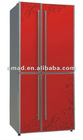 Four door defrost side by side refrigerator