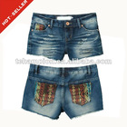 (#TG327S) 2012 embroidery sexy tight shorts women tight jeans shorts