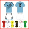 100% polyester wholesale soccer jersey