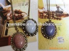 fashion necklace jewelry Vintage firecracks stone sweater necklace pendant
