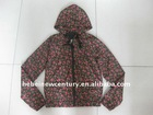 Floral prints jackets with hood