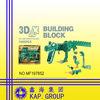plastic 3D dinosaur buidling block toy