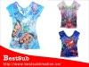 Lady Sublimation Printing Short Sleeve Lace T-shirt