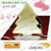 led card for promotional christmas card