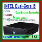 INTEL I5 3.2Ghz 4G RAM 500G HDD thin clients Ultra mini PC can be used for VOD education banking diskless workstation