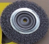 Circular brushes-crimped wire for bench grinder machine