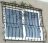 Galvanised Wrought Iron Window Grille{HB-M010}