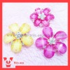 flower rhinestone buttons