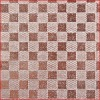 Coffee Color Checkerboard Design Glitter Nonwoven Fabric