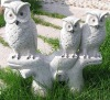 animal carving owls
