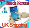 "7"" BOOK LCD Digital Electronic Touch Screen 4GB voice E-Reader EPUB PDF AVI UK"