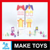 modern small villa house toys with wordpad and carport