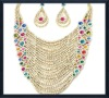 fashion jewelry turkey custume jewelry set zinc alloy jewelry