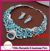 hot sale indian royal blue necklace set