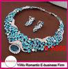 hot sale indian royal blue necklace set