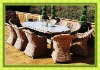 YDL-T20340 Youdeli outdoor oval dining set for 2012