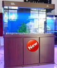 Fashionable glass aquarium with cabinet
